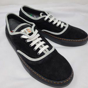 Italian Made Black Suede Skater Shoes, Size 9